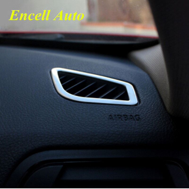 2pieces/Set Car Styling Stainless Steel AC Air Vent Trim Cover Sticker For BMW 3 4 Series F30 F32 F34 F36 LHD Accessories
