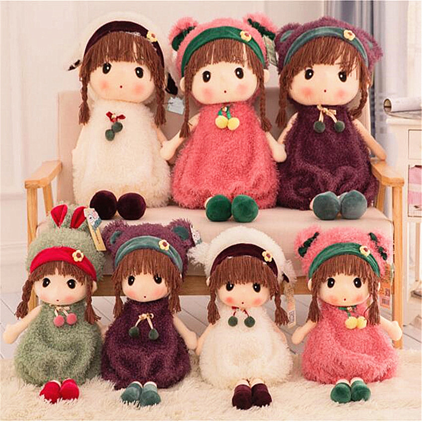 Large Cartoon Mayfair Plush Toys Plush Wedding Rag Doll Girl's Kids Birthday Gift 60cm/70cm Cute Elsa Doll Toy Stuffed Girl Doll