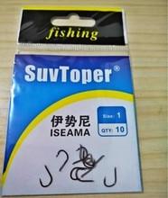 10 pakketten Superlage promoties SuvToper koolstofstaal ISEMA vishaak prikkeldraad karper haken vistuig pesca