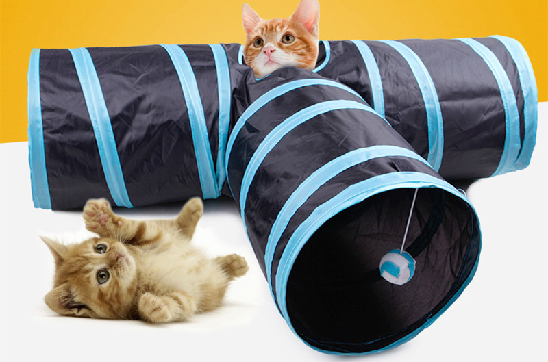 Home & Garden Active 2pcs/lot New Special Design Cat Tunnel With Balls Foldable 3 Holes More Funny Animals Play Toys Tunnel For Kitten Puppy Dog Fixing Prices According To Quality Of Products Carriers & Strollers