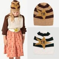 BBK 2017TAO Fashion Winter Warm Baby Hats Letter Stripes Pattern Newborn Baby Cap For Children Knitted