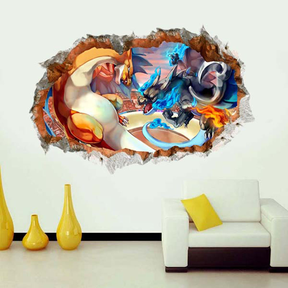 Aliexpress.com : Buy 3d Pokemon Wall Decor Stickers Kids Bedroom Removable  Children Nursery Cute Wall Decals Self Adhesive Living Room Wallpaper From  ... Part 39