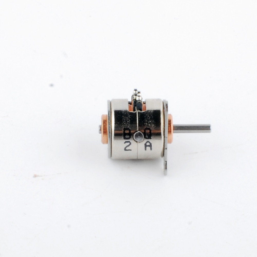 6V диаметром 10 мм микро 2 фазы 4 провода шаговый двигатель 18 градусов мини-шаговый двигатель 5 шт
