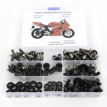 For Honda VFR800 VFR 800 2002-2013 Motorcycle Cowling Complete Full Fairing Bolts Kit Clips Nut OEM Style Screws Steel motorcycle unpainted fairing body work cowling for h o n d a vfr800 vfr 800 2002 2012 03 04 05 06 07 08 09 10 11 4 gift