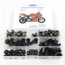 For Honda VFR800 VFR 800 2002-2013 Motorcycle Cowling Complete Full Fairing Bolts Kit Clips Nut OEM Style Screws Steel(China)