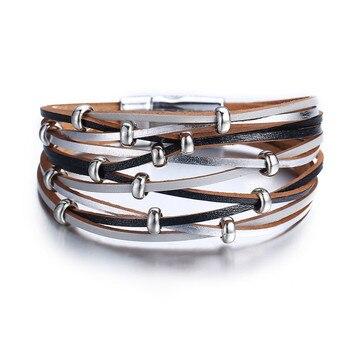 Women's Gold Leather Bracelet Bracelets Jewelry New Arrivals Women Jewelry Metal Color: FCS114221