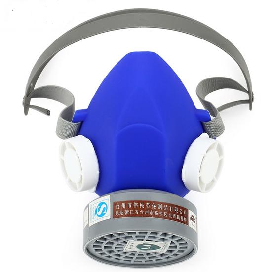El nuevo 2016 respiradores máscara de gas azul de silicona química industrial gas carbonmask pintura del respirador