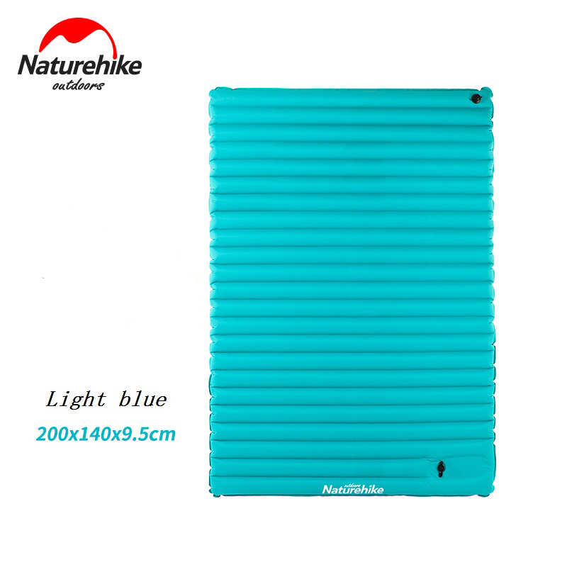 Naturehike TPU Waterproof Mat Outdoor Camping Double Inflatable Sleeping Pad Press-Type Air Bed Beach Mattress NH17T120-UM/L inflatable mattress beach mat automatic air mattress camping mat air bed with pillow sleeping pad 193 65