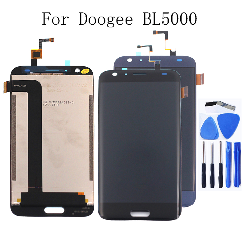 "For Doogee BL5000 5.5"" LCD + Touch Digitizer for DOOGEE bl5000 lcd repair parts replacement free shipping + tools-in Mobile Phone LCD Screens from Cellphones & Telecommunications"