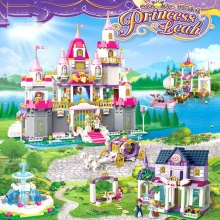 купить Princess Romantic Castle Violet Royal Carriag Car Friend Building Blocks Girl Sets Toy Compatible With Legoingly Friends Bricks по цене 830.26 рублей