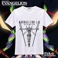 Novo Anime EVA Neon Genesis Evangelion T camisa dos homens de moda de algodão T frete grátis