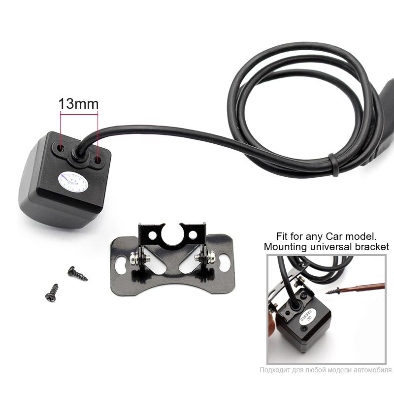 HD cámara de visión trasera de coche 170 grados de ángulo 11