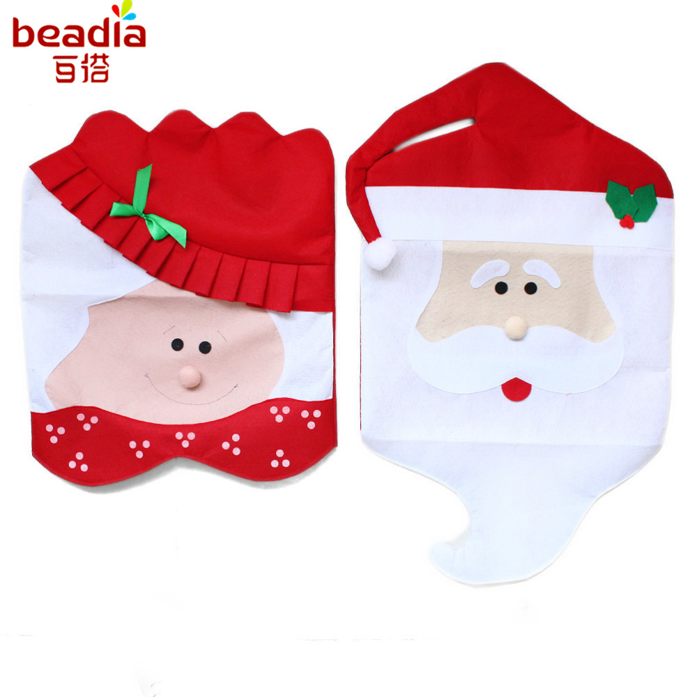 2pcs/bag Mr&Mrs Santa Chair Covers Santa Claus Natal Christmas Decorations For Christmas Dining Room Chair Cover Home Decor