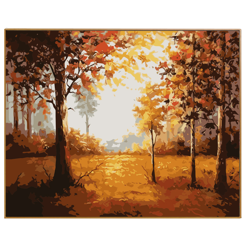 PHKV Autumn Landscape DIY Painting By Numbers Hand ainted Canvas Painting Home Wall Art Picture For Living Room Unique Gift