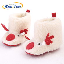 Mother Kids Baby Shoes First walker Girl Winter Booties Hand-made Anti-silp Boots Fashion Girls  Snow Warm