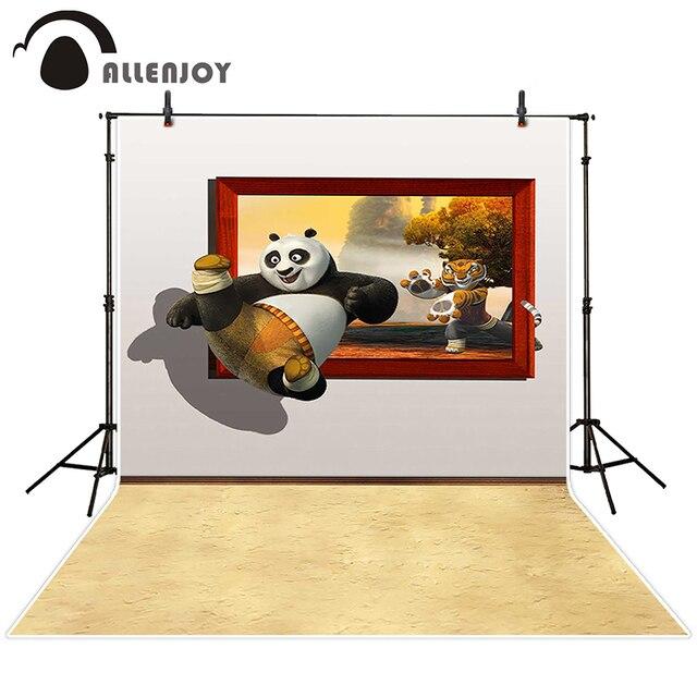 Allenjoy fondo fotográfico Panda tigre de dibujos animados marco de ...