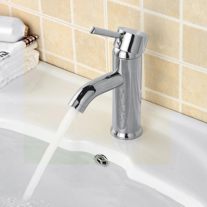 WEYUU  Bathroom Basin Faucet  Cold and Hot Water Wholesale And Retail Deck Mount Stream/Spray Effluent BrassVanity