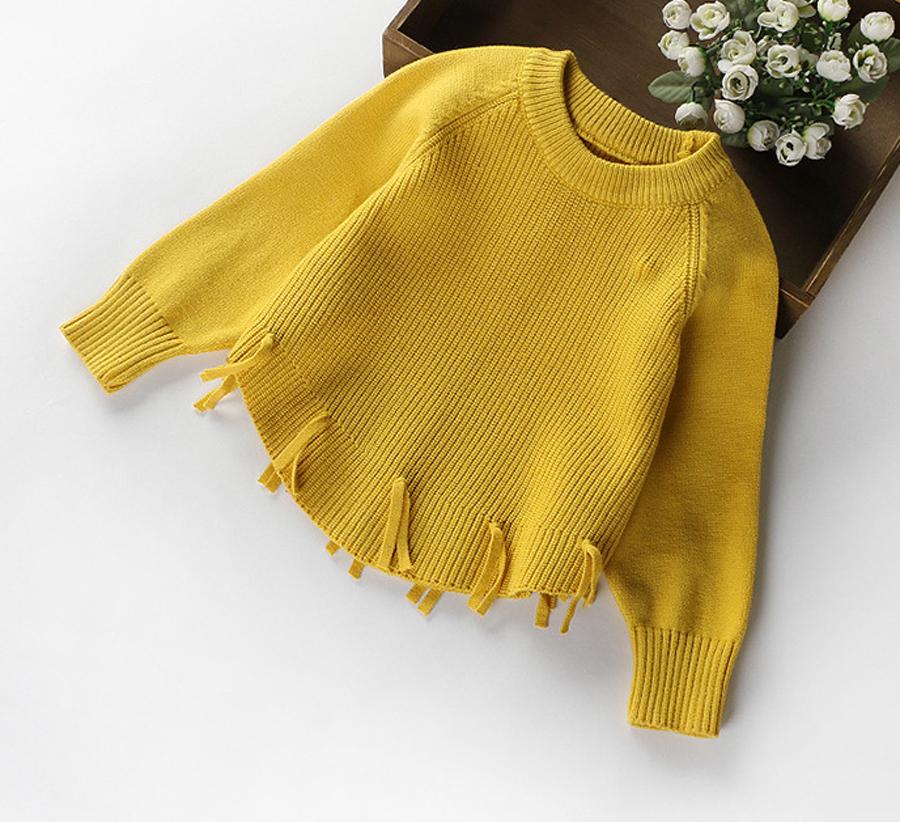 Mottelee Girls Sweater 2018 New Autumn Winter Knit Cardigan Girls Jumpers  Cartoon Cart Bird Horse Coat Long Sleeve Kids Sweaters Handmade Sweater