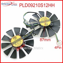 Free Shipping PLD09210S12HH 12V 0.40A 87mm VGA Fan For ASUS GTX1060 GTX1070 RX480 RX570 Graphics Card Cooling