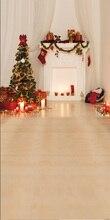Regalos de navidad chimenea fotografía telones de fondo recién nacido telón de fondo de Navidad Arte photo fondo D-4107