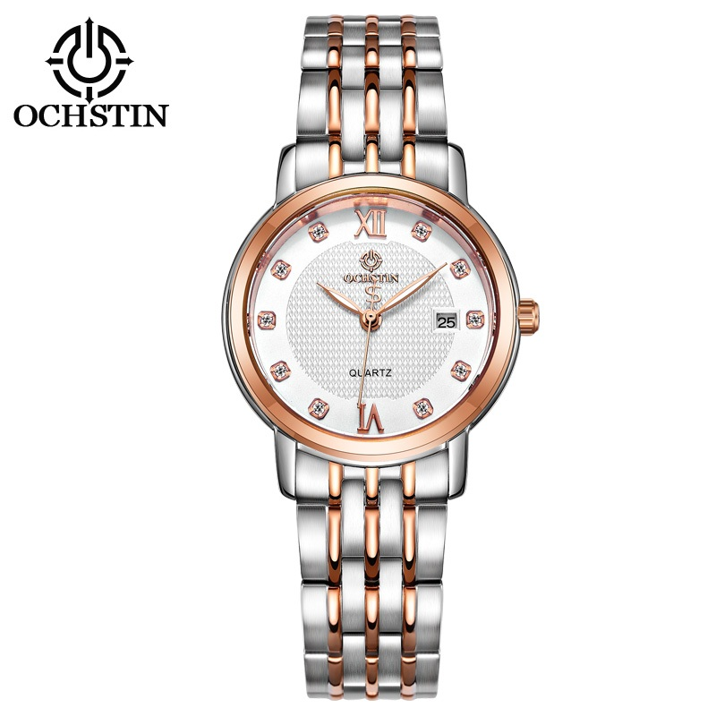 2017 Women New Fashion Crystal Watch OCHSTIN Top Brand Luxury Stainless Steel Ladies Watch Women Quartz Date Sport Dress Watches top brand luxury new silver watch women dress watches fashion men date leather stainless steel sport quartz wrist watch clock a1