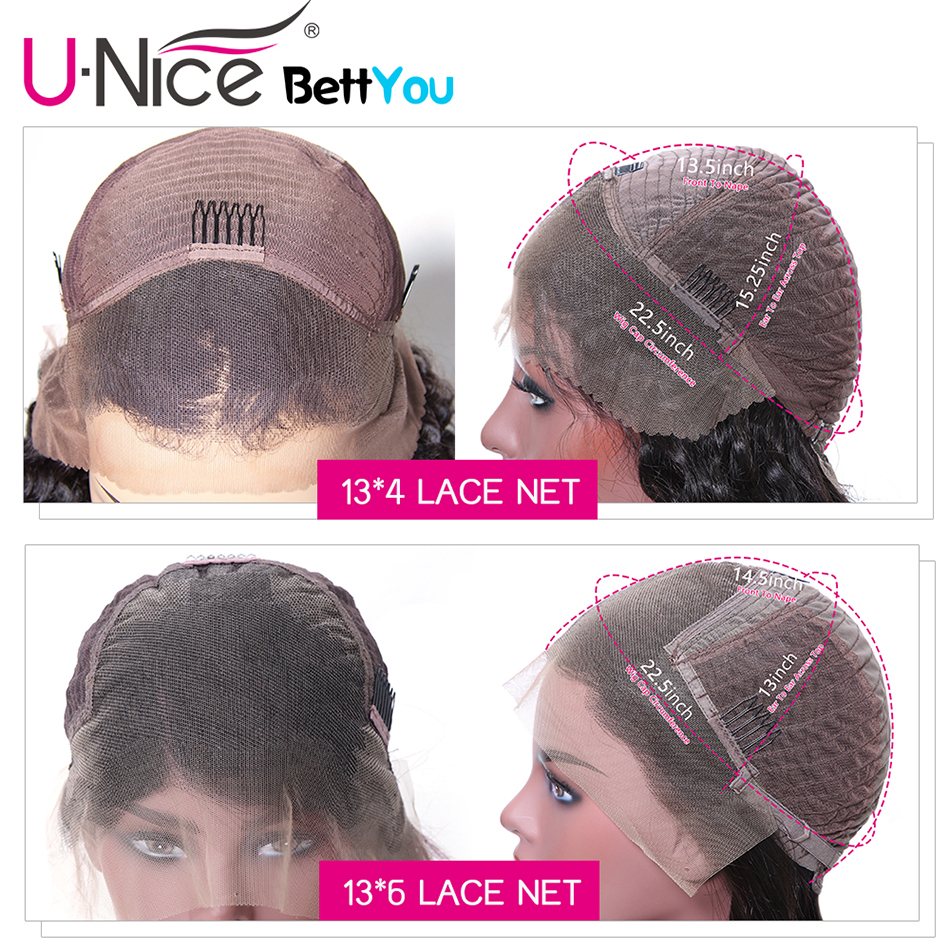 Image 5 - Unice Hair 13*4/6 Lace Front Human Hair Wigs Wigs 8 14 Inch Straight Short Blunt Cut Bob For Black Women Brazilian Remy Hair-in Lace Front Wigs from Hair Extensions & Wigs
