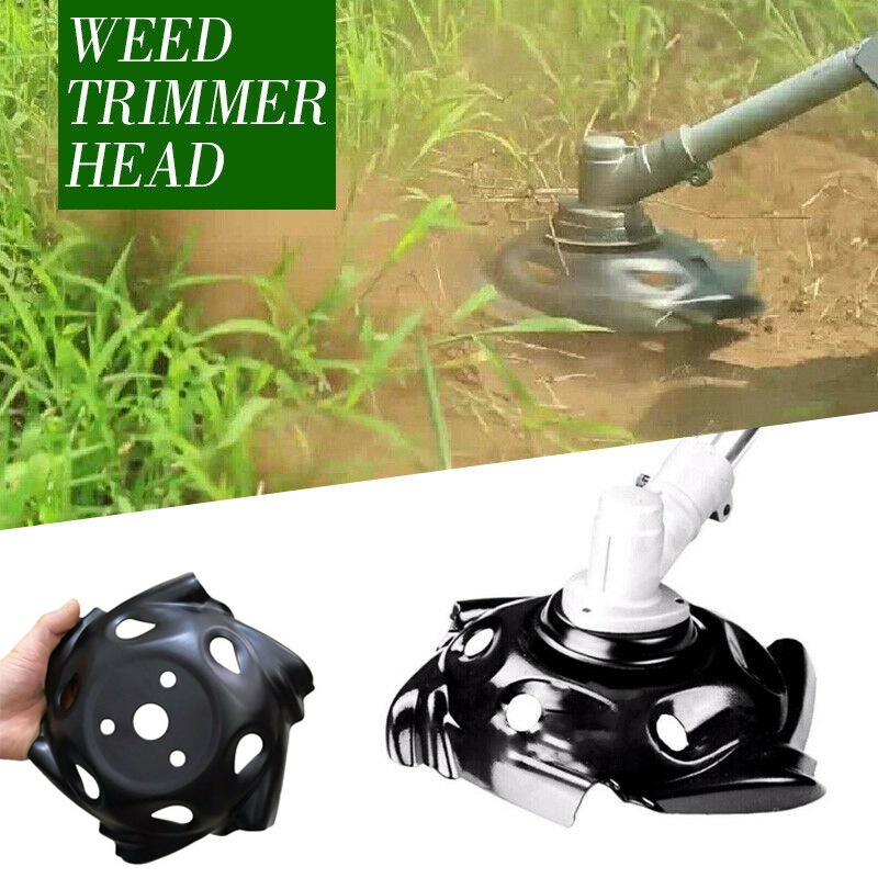 1PC Hot Machine Accessories Round Edge Scythe Lawn Mower Weed Trimmer Motor Head Carbon Steel Blades Garden Lawn Power Tool in Power Tool Accessories from Tools