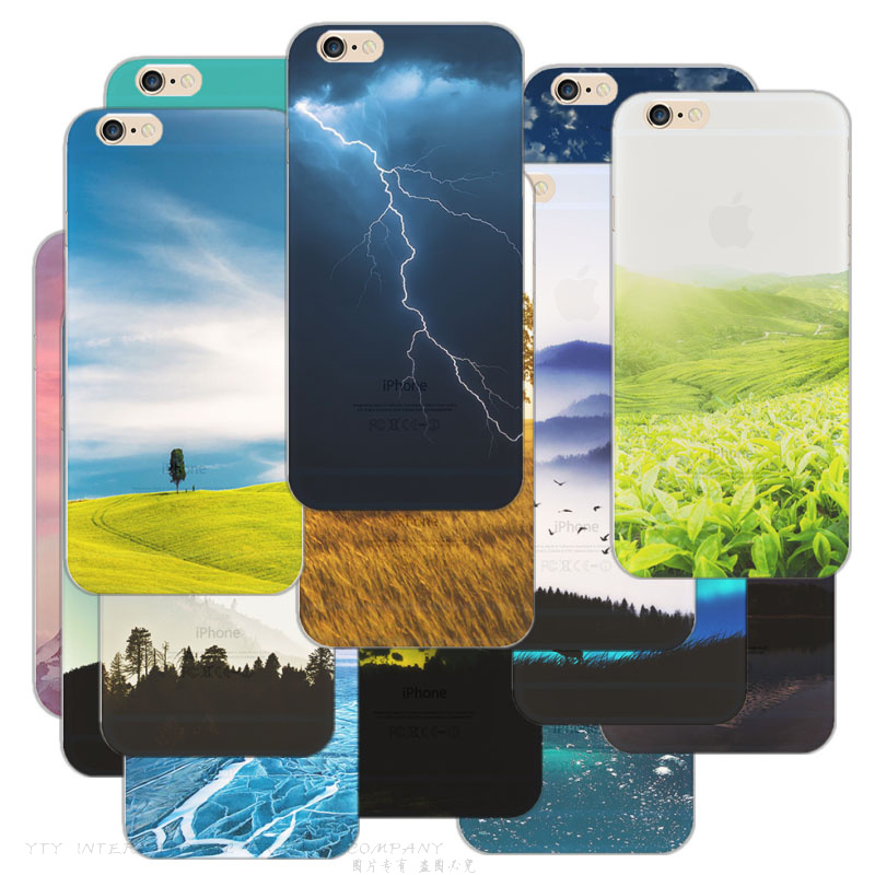 "6+/6S+ 5.5"" Painting Thunder Rivers Scenery Soft TPU Cover For Apple iPhone 6Plus/6S Plus Cases Case Phone Shell Newest Best !!"