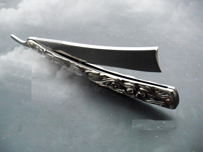 Professional Straight Edge Stainless Steel Shaper Barber Razor Folding Shaving Knife Aluminum Vintage Shaver 1.jpg