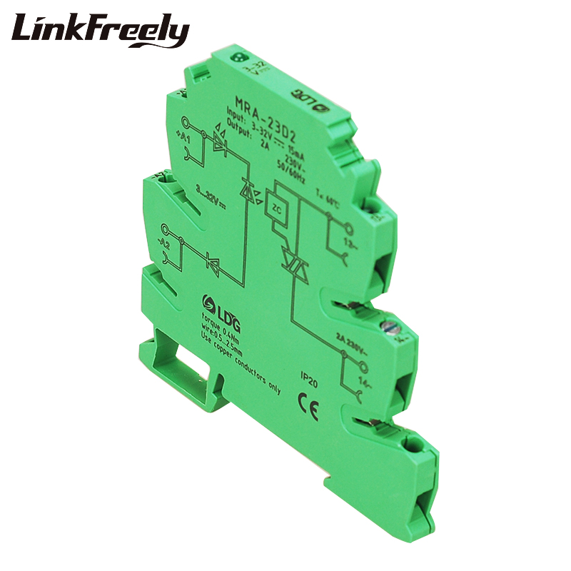 MRD 060D2 Innovative LED Indication 2A Input 5V 12V 24V DC SSR Solid Sate Relay Interface DIN Rail Relay Module Switch Board in Relays from Home Improvement