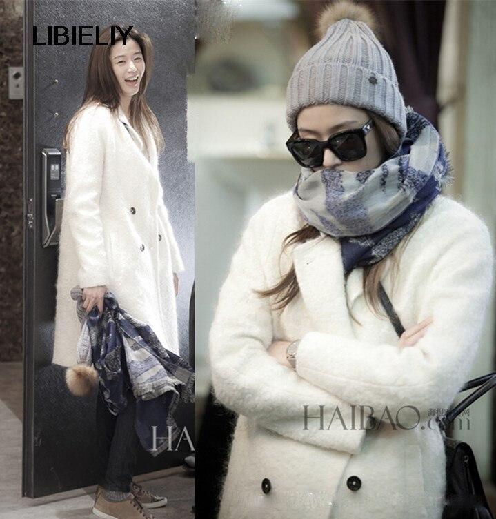 Entaillé Printemps Manteau Nouveau Long Blanc Hiver Marque Casaco Femmes De Revers Survêtement Mode Design Femme Simple Décontracté fH8qfp7