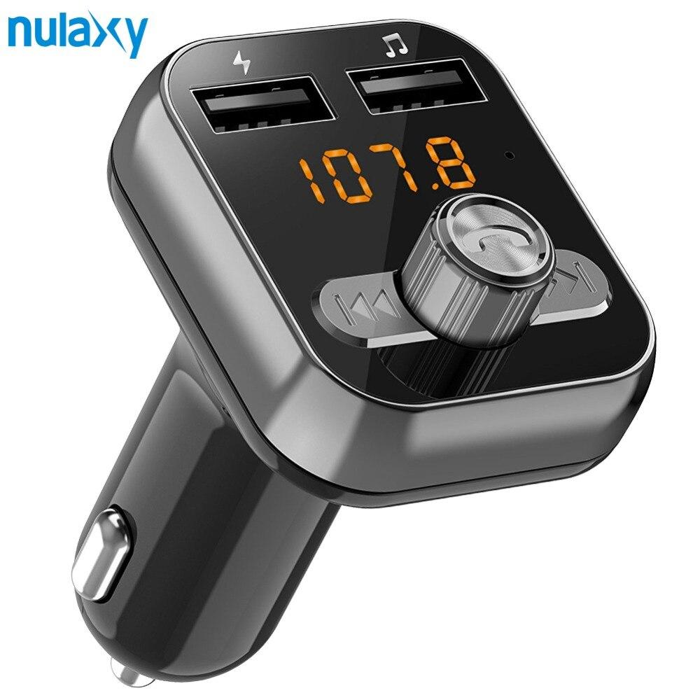 Nulaxy FM Transmitter Bluetooth Car Kit Mit Dual USB Ladegerät Spannung Display Unterstützung TF Karte U Disk Auto MP3 player