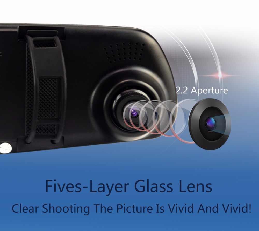 3.2 بوصة جهاز تسجيل فيديو رقمي للسيارات كاميرا التسجيل الخاصة بالسيارات مرآة الرؤية الخلفية الفيديو الرقمية المحمولة مسجل فيديو كاميرا كامل HD 1080 P جهاز تسجيل فيديو رقمي للسيارات