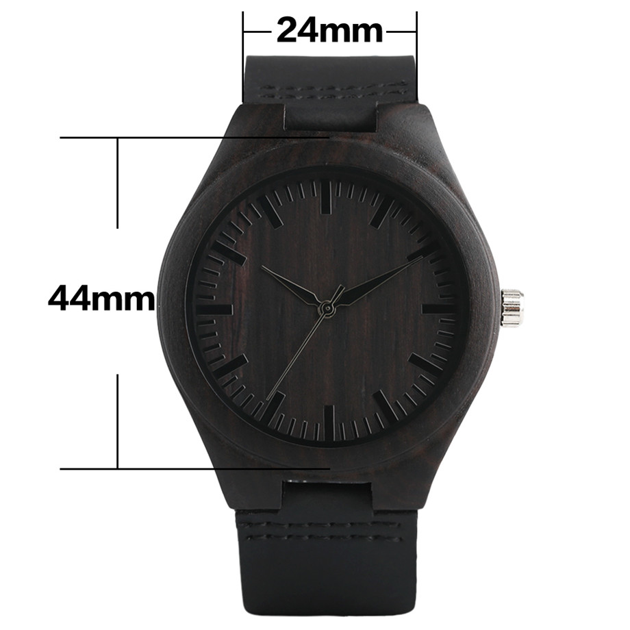 full black wood watch  Trendy Full Black Males's Ebony Wooden Watch Quartz Hand-made Bamboo hombre Wristwatch with Real Leather-based Watchband Present for Males HTB1ZsJghjihSKJjy0Ffq6zGzFXaT