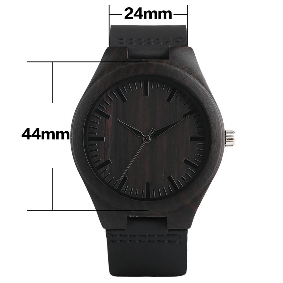 full black wood watch