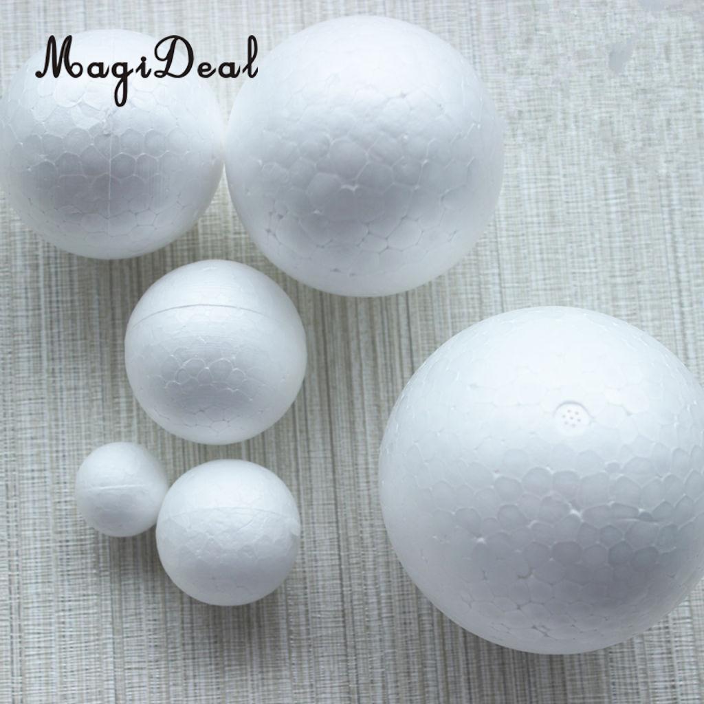 Cute 10Pcs 1Pack DIY Modelling Polystyrene Styrofoam Foam Ball Creative Material