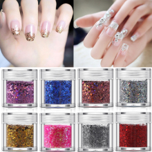 hot deal buy  nail glitter sequins  shinning paillettes nail art decor flakes 3d nail art decoration  laser sparkly diamond manicure
