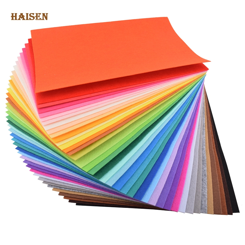 40pcs30x20cm Non Woven Felt Fabric 1mm Thickness Polyester Cloth Felts Of Home Decoration Pattern Bundle For Sewing Dolls Crafts
