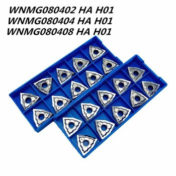 10PCS Triangle CNC aluminum blade WNMG080404 HA H01 high quality cermet aluminum alloy lathe tools WNMG080408 aluminum tool цена 2017
