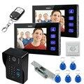 """7"""" 1V2 LCD Video Door Phone Intercom video door bell door camera  Keyfob Keypad Remote Electric Door Lock"""