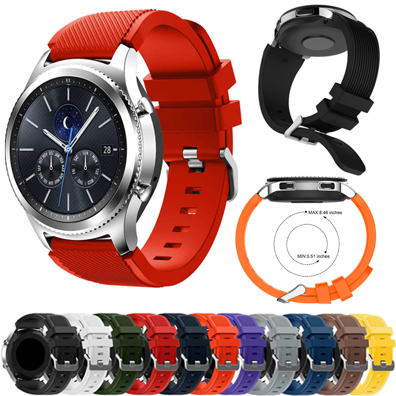 Gear S3 Frontier Watchband For Galaxy Watch 46mm Gear S3 Frontier Silicone Replacement Watch Strap 18 Color Watch Accessories