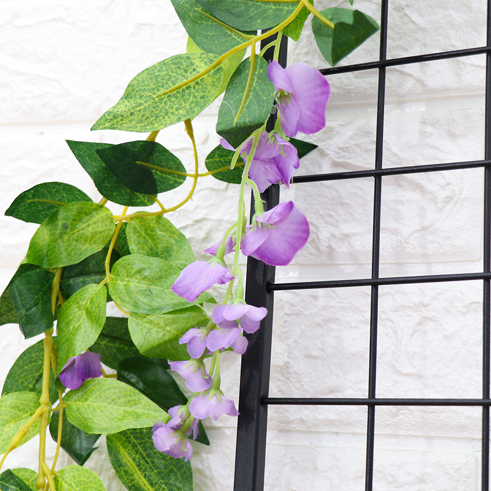7FT Artificial Wisteria Vine Garland Plants Foliage Trailing Flower In//Outdoor