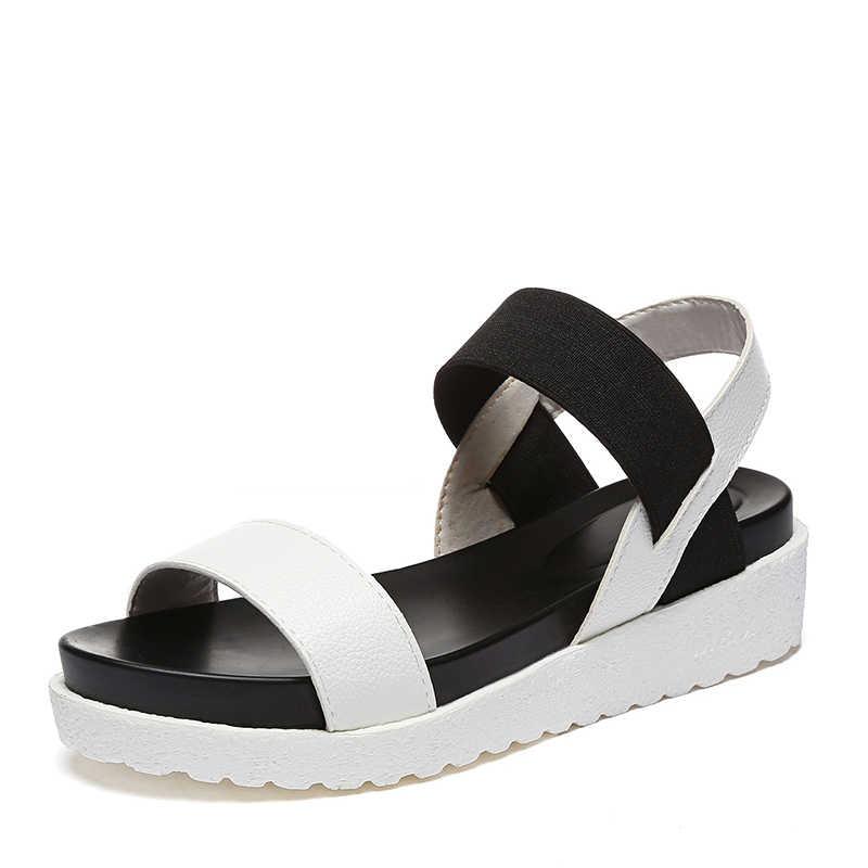 MCCKLE נשים סנדלים להחליק על גומייה פיפ הבוהן נשי קיץ נעלי פלטפורמת שטוח רומי סנדלי גבירותיי נעליים נוחות