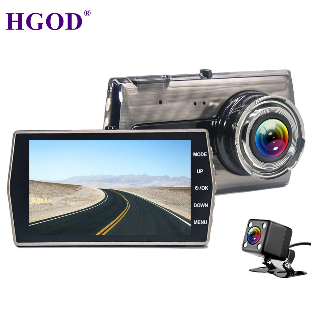 HGDO Car DVR Registrars-Recorder Auto-Camcorder Dash-Cam G-Sensor Dual-Lens Night-Vision