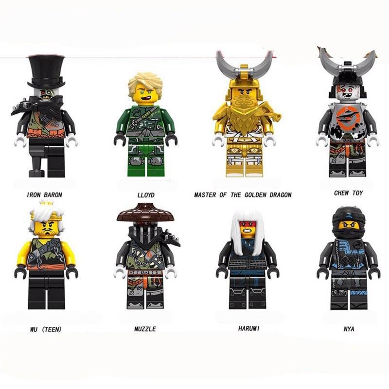 New Creator Enlighten Ninja Minifigure Iron Baron Lloyd Chew Toy Master Golden Dragon Muzzle Nya Building Blocks Toys Gifts Blocks Aliexpress