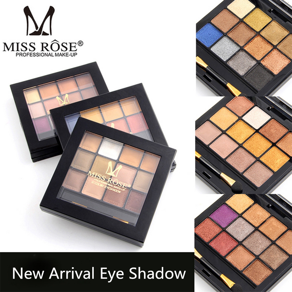 Miss Rose Brand <font><b>New</b></font> <font><b>Eye</b></font> <font><b>Shadow</b></font> Palette Makeup <font><b>Nude</b></font> Naked Eyeshadow <font><b>12</b></font> <font><b>Colors</b></font> Matte Shimmer paleta de sombra Women <font><b>Professional</b></font>