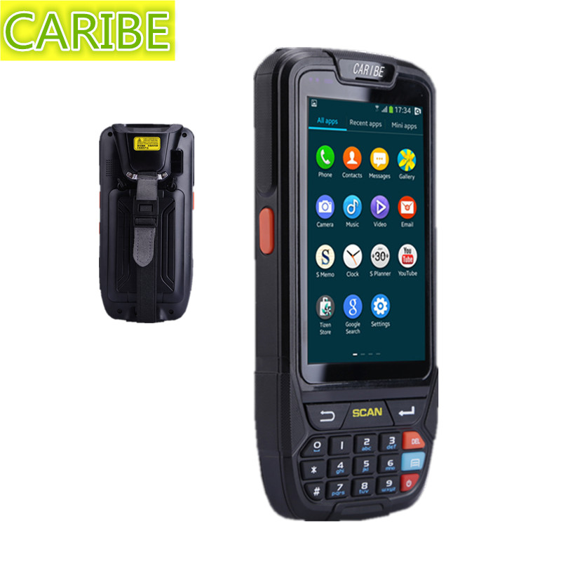 Caribe PL-40L industrial inventory management android pda android wireless with 1d barcode scanner and 4G caribe pl 40l industrial pda mini portable nfc memory attendance rfid android integrated with gps 1d barcode scanner