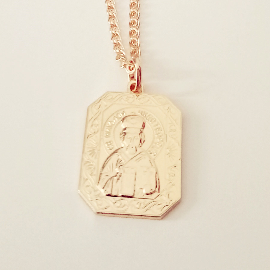 Religion Jewelry New Fashion Rose Gold Color Jewelry Women Men Christian Orthodox Church Necklace Pendants все цены