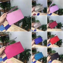 2019 Новый Для женщин кошелек клатч женский кошелек на молнии длинные деньги сумки простой Стиль монет тонкие кошельки женский однотонный