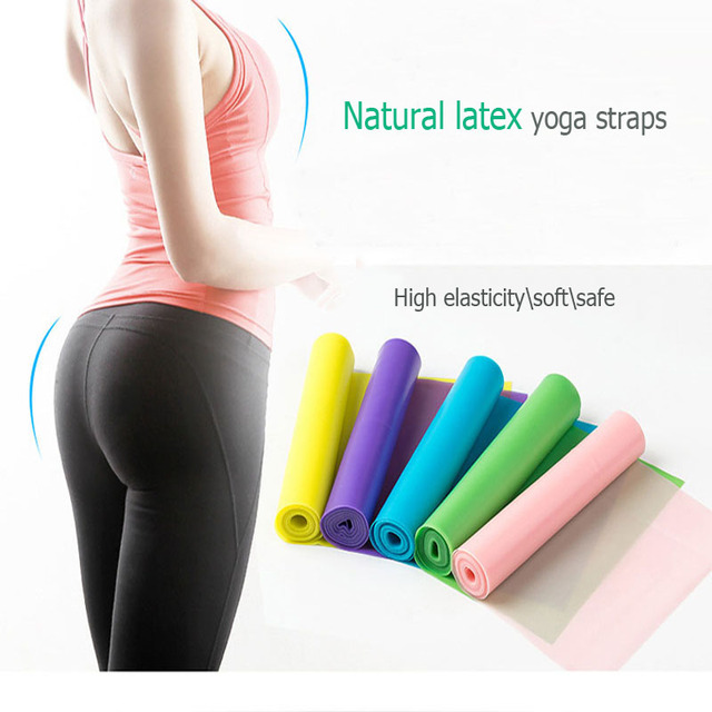 New Natural Latex Yoga Resistance Bands Yoga straps belts Yoga Accessories Pilates Belt Fitness Exercise Body Stretch pull strap